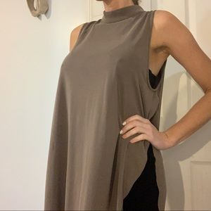 Olive Sleeveless Tunic - Small